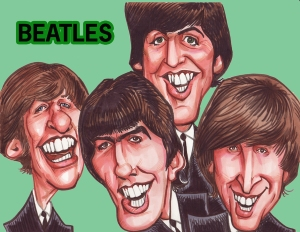 Beatles Caricature by www.aaacaricatures.com